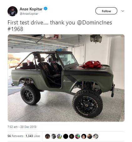 Tudi Anže Kopitar vozi Forda