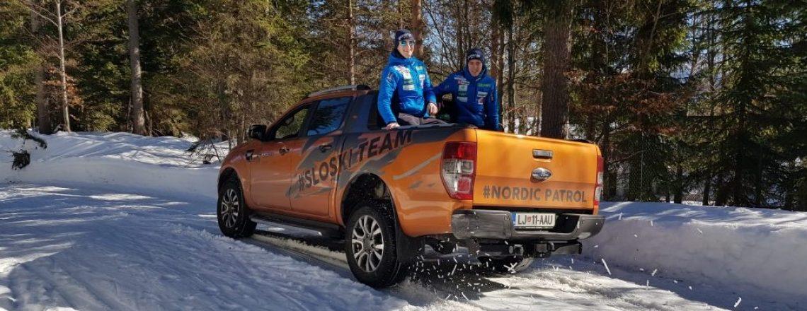 Ford Ranger je kos tudi slovenski nordijski reprezentanci