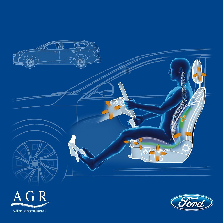 Zdravstveni strokovnjaki hvalijo sedeže v novem Fordu Focusu