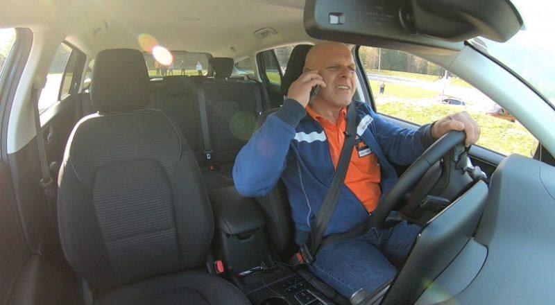 Mobilni telefoni, pogovor med vožnjo